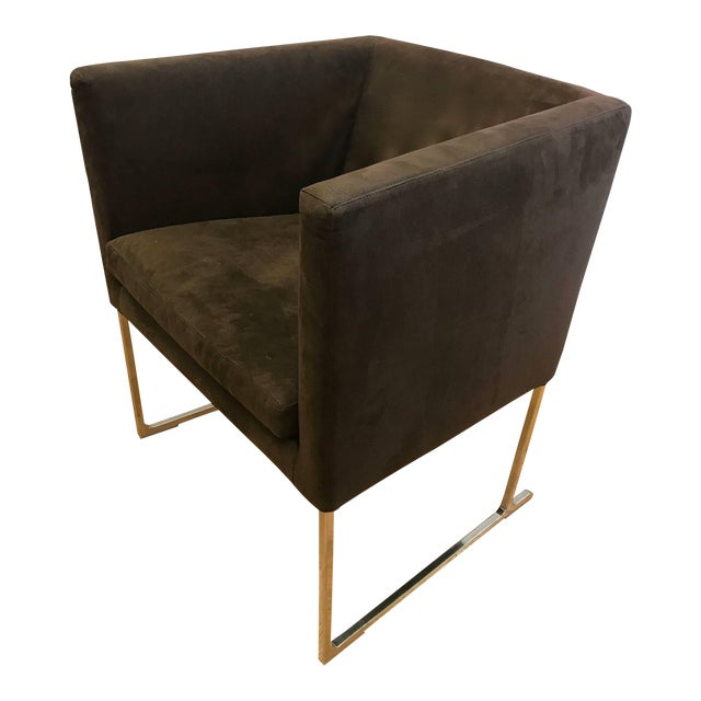 B&b Italia Atonio Citterio Brown Suede Armchair For Sale