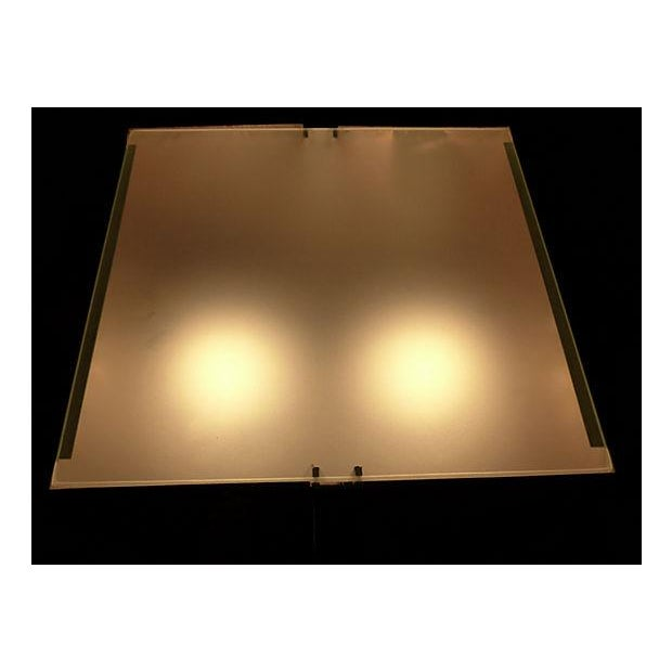 George Kovacs Chrome & Black Angled Lighted Pedestal For Sale - Image 9 of 10