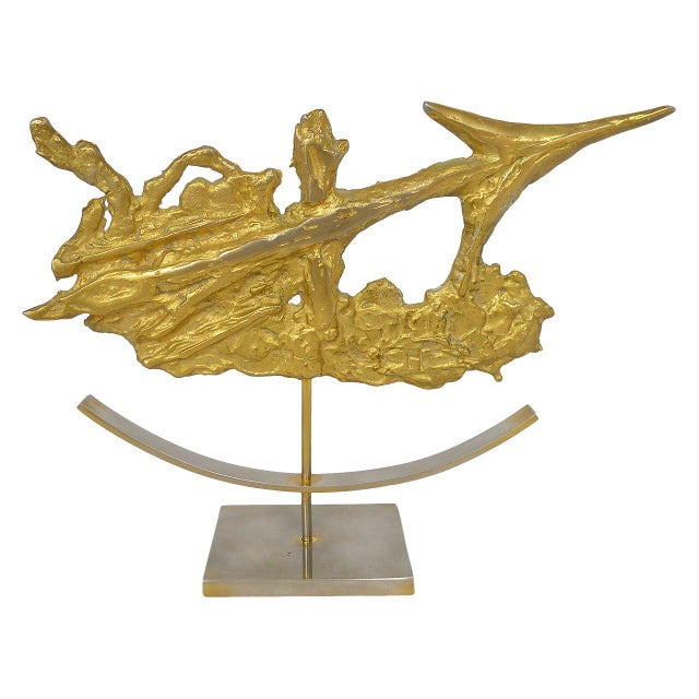 Philippe Cheverny Brutalist Sagittarius Sculpture by Philippe Cheverny For Sale - Image 4 of 4