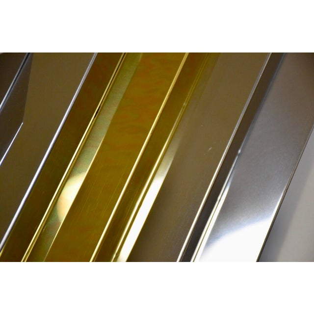 1970s Modern Chrome and Brass Wall Art For Sale - Image 5 of 9