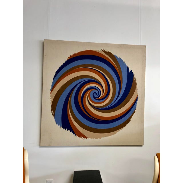 """Textile Original Curry Melin """"Hurricane"""" Swiss Fabric Print For Sale - Image 7 of 7"""