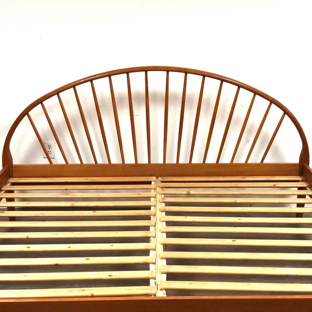 Jespersen Danish Modern Teak King Bed For Sale In Boston - Image 6 of 11