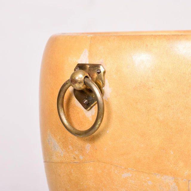 1950s Aldo Tura Goatskin and Brass Ice/Champagne Bucket, Midcentury For Sale - Image 9 of 10