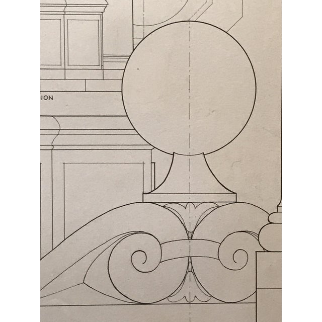 "Ruth Opper 1944 Architectural Drawing ""A Well Head Bologna"" For Sale - Image 4 of 9"