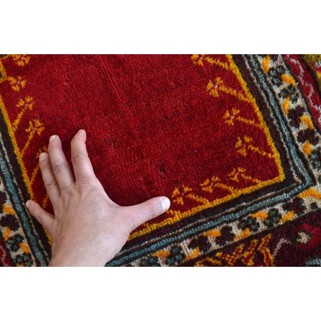 """Antique Turkish Rug Hand Knotted Prayer Rug - 3'4"""" X 5' For Sale - Image 11 of 12"""