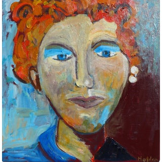 Figurative Painting, Lady With the Pearl Earring For Sale