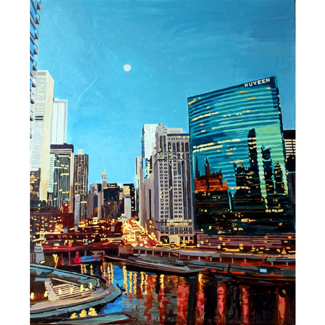 "Realism ""Perfect Night in Chicago"" Print For Sale - Image 3 of 3"