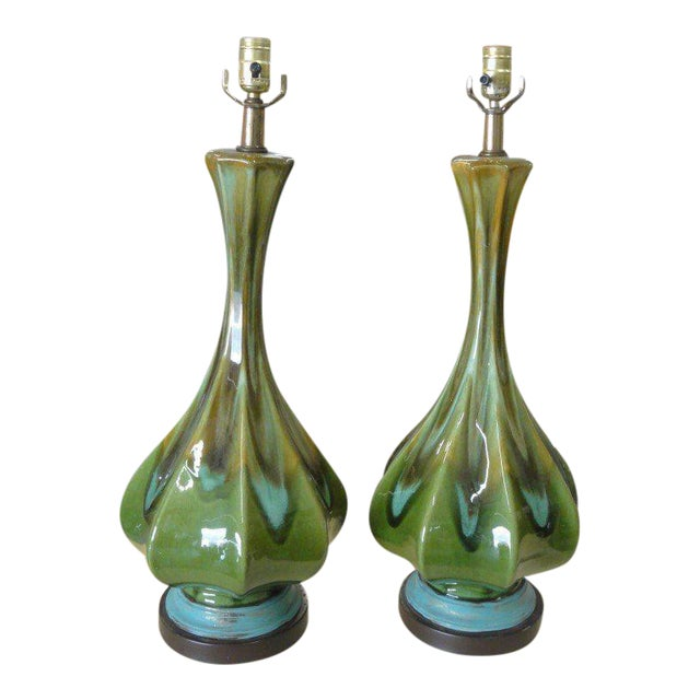 Mid-Century Modern Lamps - A Pair - Image 1 of 6