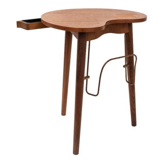 Mid Century Danish Kidney Shaped Teak Side Table by Gorm Mobler For Sale