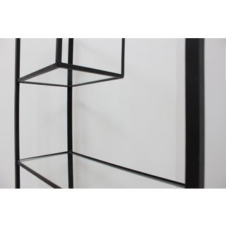 50s Frederick Weinberg Iron and Glass Etagere - Vintage Minimalist Shelves Preview
