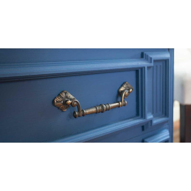Vintage Blue Lucille Armoire - Image 6 of 7