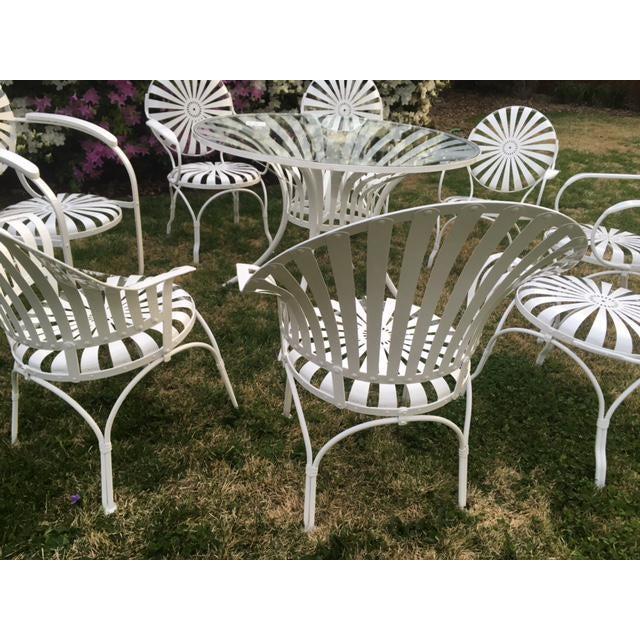 Patio Furniture Northville Mi.Francois Carre Sunburst Patio Table Chairs Set Of 9