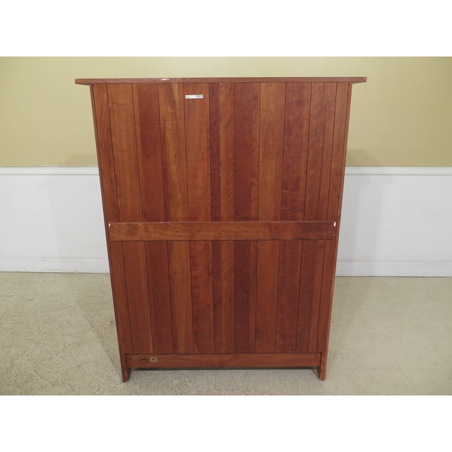 Stickley Mission Cherry Leaded Glass 2 Door Bookcase For Sale - Image 11 of 13