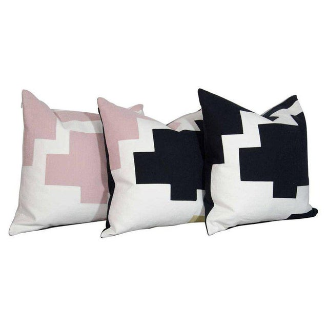 Cotton Architectural Italian Linen Throw Pillows by Arguello Casa For Sale - Image 7 of 7