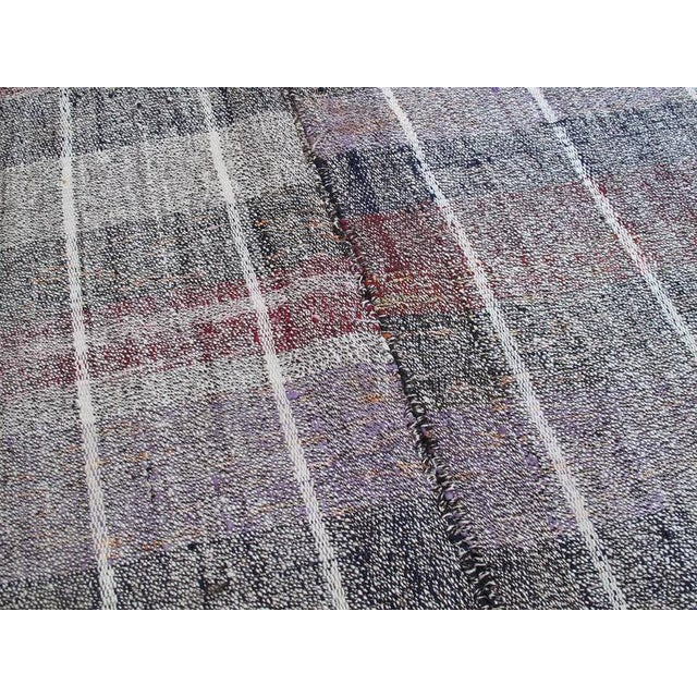 Cotton and Goat Hair Kilim with Subtle Color For Sale In New York - Image 6 of 9