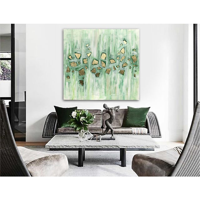 Green 'Viridescence' Original Abstract Painting by Linnea Heide For Sale - Image 8 of 10