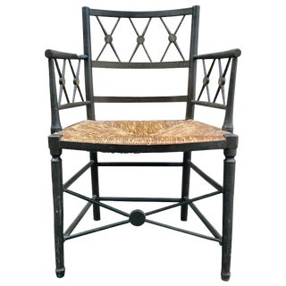 19th Century Painted English Regency Armchair For Sale
