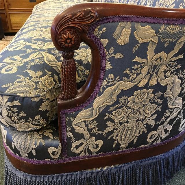 Vintage Victorian Fringe Sofa - Image 7 of 11