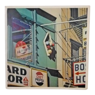 "Vintage Robet Cottingham Pop Art ""Pool"" Print From American Signs Portfolio Series Ok Harris Gallery NYC For Sale"