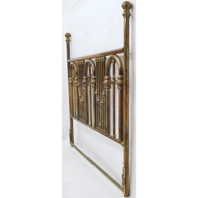 King Size Large Brass Headboard For Sale - Image 4 of 12