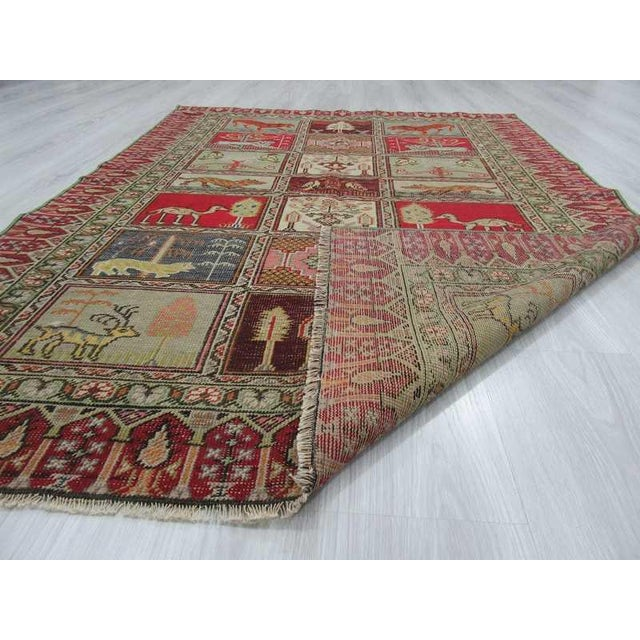 Vintage Decorative Turkish Rug - 4′ × 5′8″ - Image 6 of 6