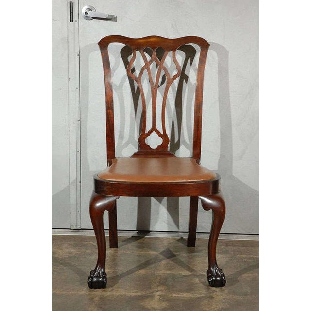 Chippendale Style Side Chairs - Set of 6 - Image 4 of 8