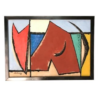 1949 Modern Art Abstract Painting California Artist For Sale