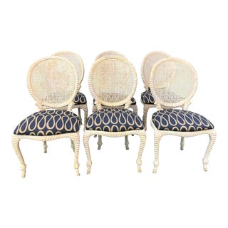 1990s Hollywood Regency Dining/Breakfast Room Chairs - Set of 6 For Sale