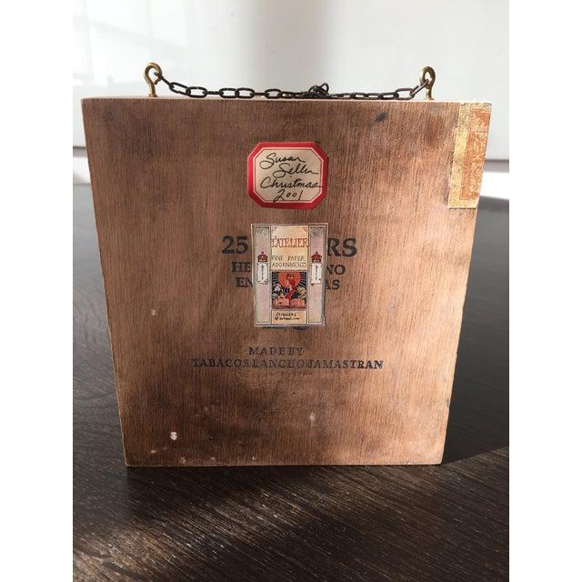 Cottage Folk Art Handmade Buck Winter Diorama Box For Sale - Image 3 of 6