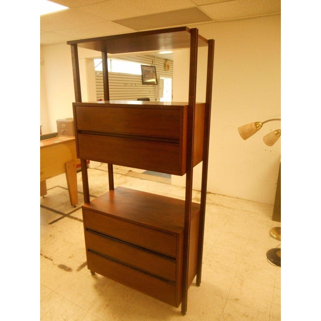 Stanley Danish Mid-Century Modern Wall Unit - Image 4 of 8