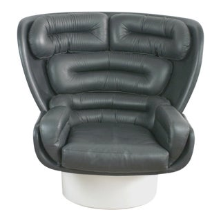 White and Black Elda Chair by Joe Colombo