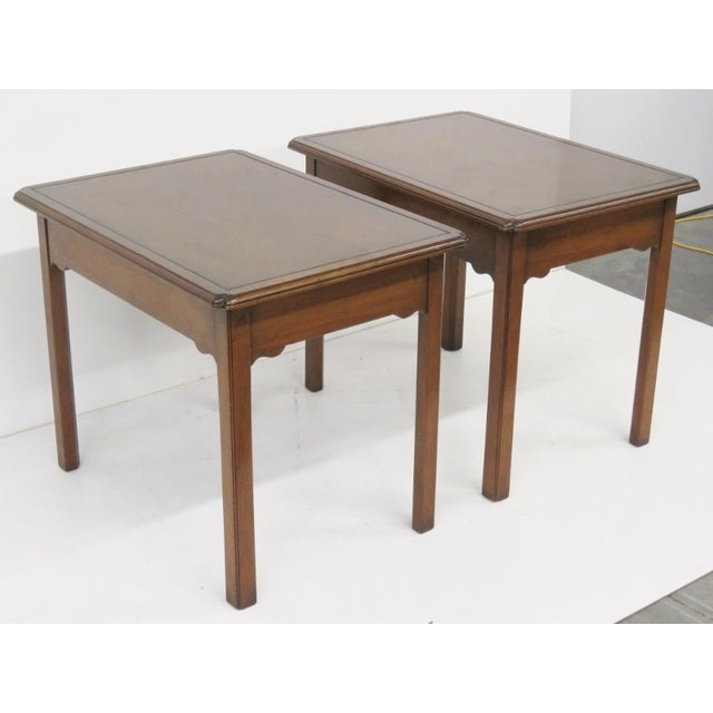 Kittinger Mahogany Side Tables - A Pair - Image 2 of 5
