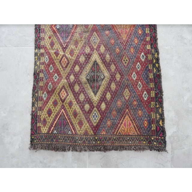Handwoven Anatolian Turkish Oushak Braided Kilim Rug For Sale In Dallas - Image 6 of 8
