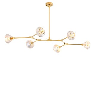 Salasco Gold Modern Chandelier For Sale