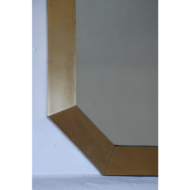 Modern French 1970's Octogonal Brass Mirror by Guy Lefevre For Sale - Image 3 of 6