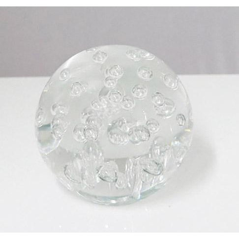 Mid-Century Modern Clear Random Bubble Sphere For Sale - Image 3 of 5