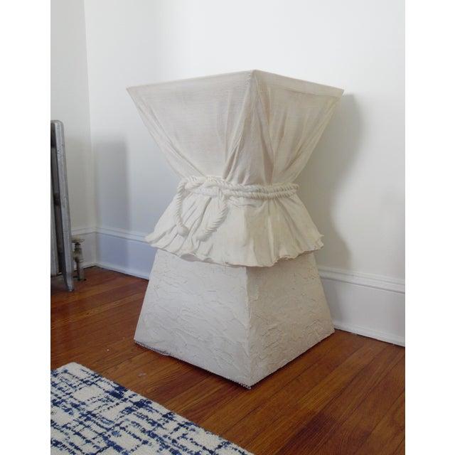 John Dickinson Late 20th Century John Dickinson Atrributed Plaster Draped & Roped Table For Sale - Image 4 of 4