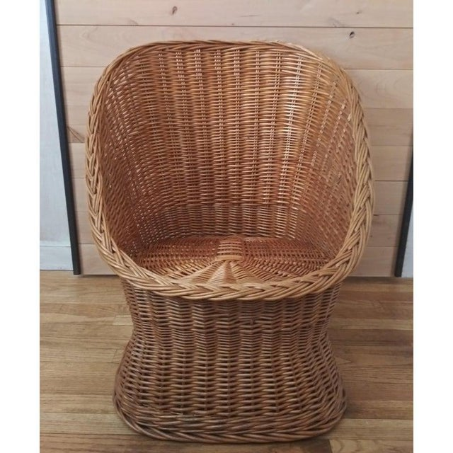 Vintage Wicker Pod Chair For Sale - Image 4 of 4