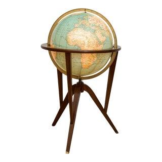 Dunbar Illuminated Terrestrial Globe For Sale