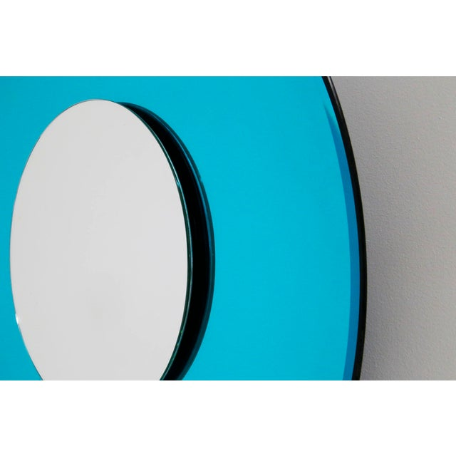 Metal Mirror Blue Contemporary Fashion in Style Fontana Arte by Effetto Vetro, 2010 For Sale - Image 7 of 11