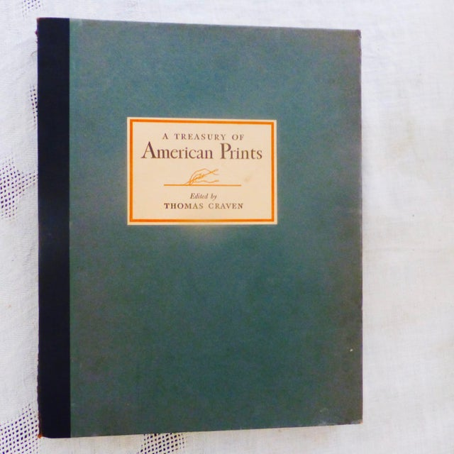 """Amazing vintage portfolio of 100 Etchings and Lithographs by the """"Foremost Living American Artists"""" of that era. A First..."""