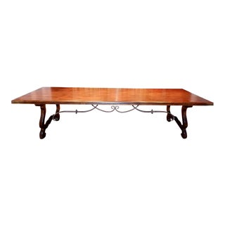 20th Century Rustic Drexel Heritage Tavola for a Feast Trestle Dining Table For Sale