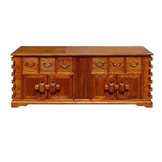 Chinese Rustic Style Low Cabinet/Credenza For Sale