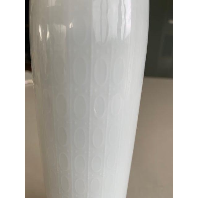 Ceramic 1970s Rosenthal Studio-Linie Bjorn Wiinblad Eva White Porcelain Vase For Sale - Image 7 of 11