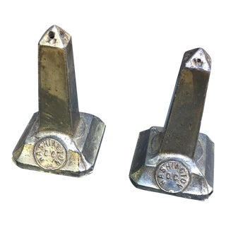 Washington, DC Shaped Metal Salt & Pepper Shakers - A Pair For Sale