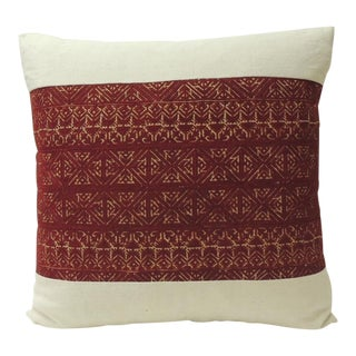 19th Century Embroidered Artisanal Textile Fez Decorative Pillow For Sale
