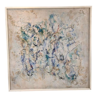 1960s Abstract Signed and Dated Acrylic Painting For Sale