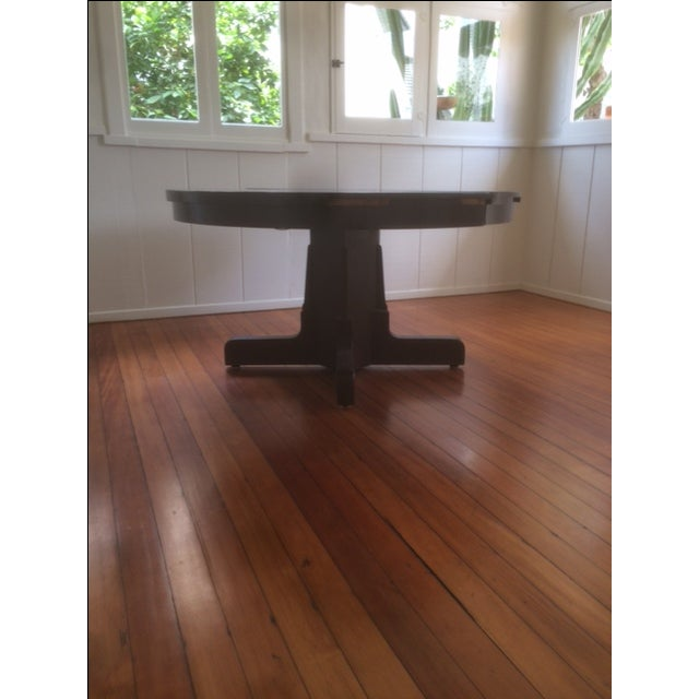 Large Pedestal Dining Table & Four Leaves - Image 4 of 8