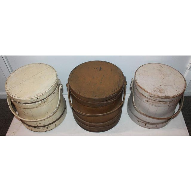 Group of Three Assorted Furkins or Buckets For Sale - Image 9 of 9
