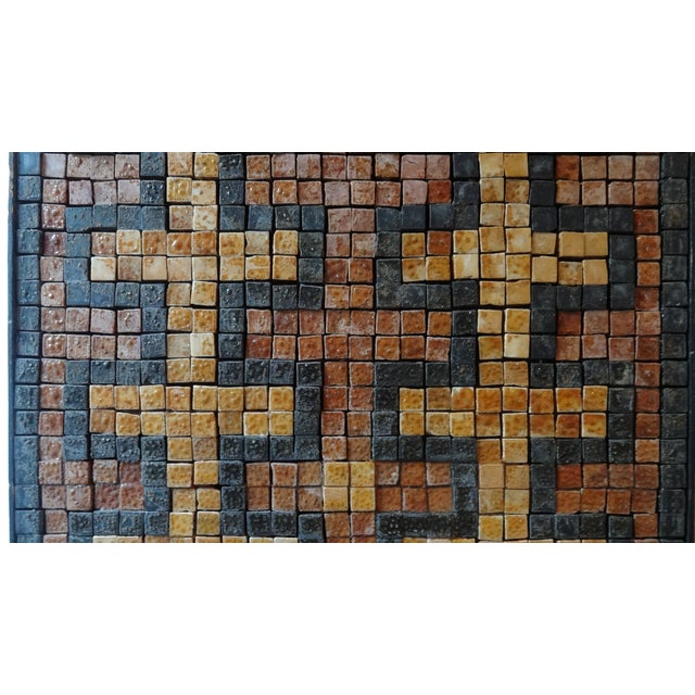 Mid 20th Century Mid-Century Greek Key Marble Mosaic Wall Art or Table Top For Sale - Image 5 of 12